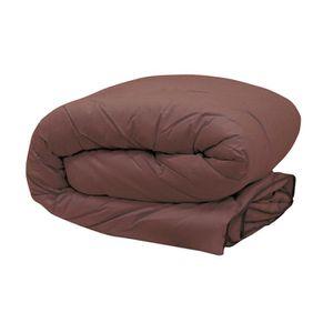 couette marron achat vente couette marron pas cher cdiscount. Black Bedroom Furniture Sets. Home Design Ideas