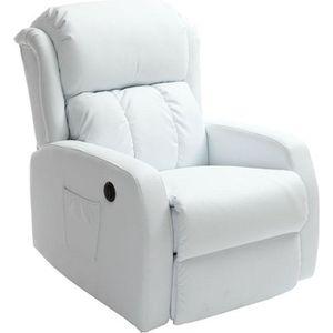fauteuil de relaxation blanc achat vente fauteuil de. Black Bedroom Furniture Sets. Home Design Ideas