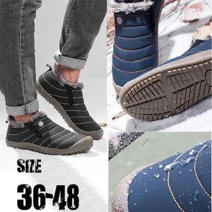 Les Hommes bas garniture cheville plat cheville automne hiver bottes chaudes sport chaussures Noir ASD731 Q0841