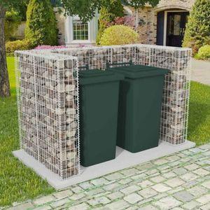 CACHE CONTENEUR Cache-poubelle Cadre à gabion de poubelle double A