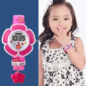 MONTRE SHARPHY® Montre Fille Enfant de Marque Fleur Rose