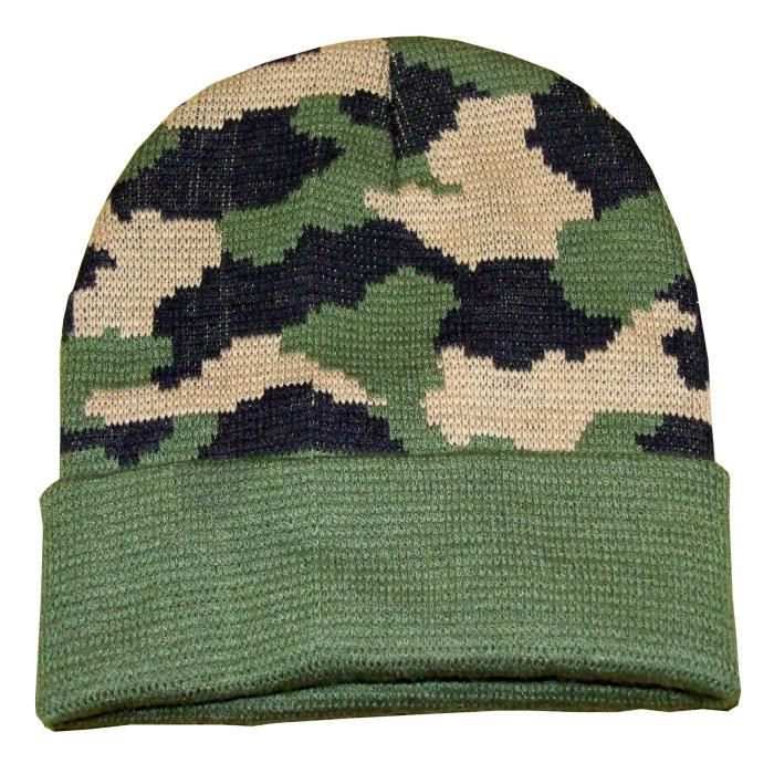 TERRITOIRE CHASSE Bonnet camouflage - Garçon
