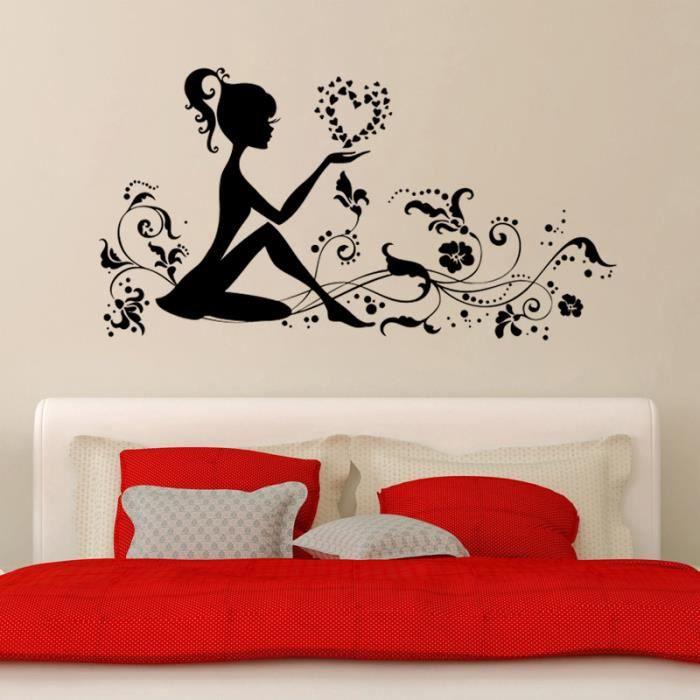 cr ative fleur elfe stickers muraux pour chambre d 39 enfant fille d coration la maison. Black Bedroom Furniture Sets. Home Design Ideas