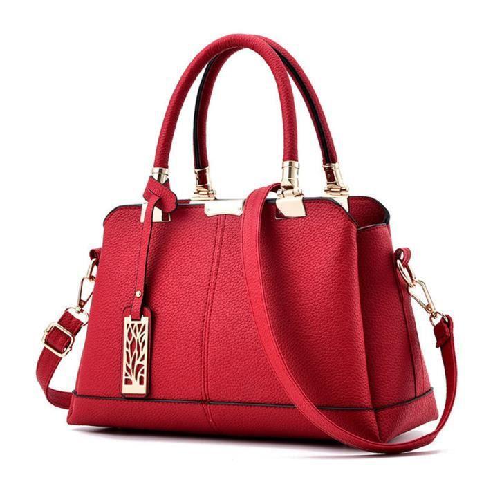 Sac à main rouge femme sac à main De Luxe Femmes Sacs Designer Cuir qualité  supérieure délicat b60395d9b58d1