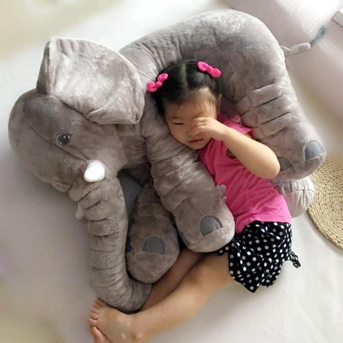 gosear 100 coton oreiller elephant mignon coussin animal en peluche d coration cadeaux pour l. Black Bedroom Furniture Sets. Home Design Ideas