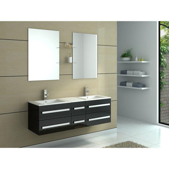 meuble de salle de bain en bois avec double vas achat. Black Bedroom Furniture Sets. Home Design Ideas