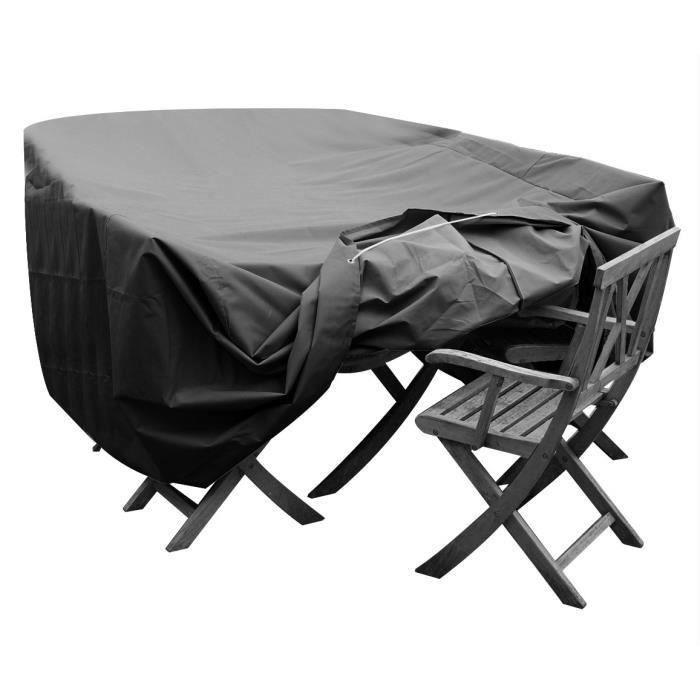 housse table de jardin ronde achat vente pas cher. Black Bedroom Furniture Sets. Home Design Ideas