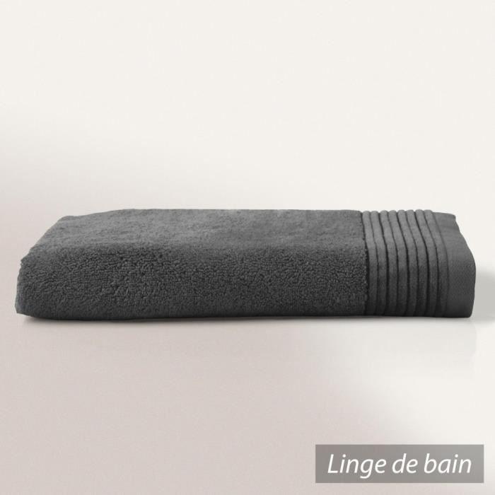 drap de bain 100x150 cm juliet gris anthracite 520 g m2 achat vente serviettes de bain. Black Bedroom Furniture Sets. Home Design Ideas