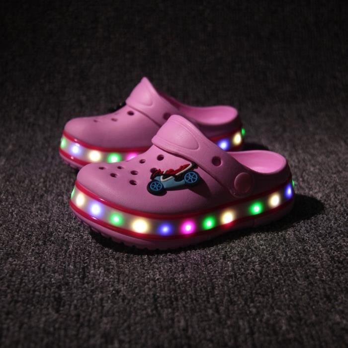 chaussures Chaussures Chaussures été s'allume plage enfants Chaussures enfants Nouvelle LED trou RCaqwaP