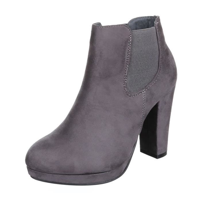 femme Boots bottine chaussures Plateau avec Strass H4RAY7vE