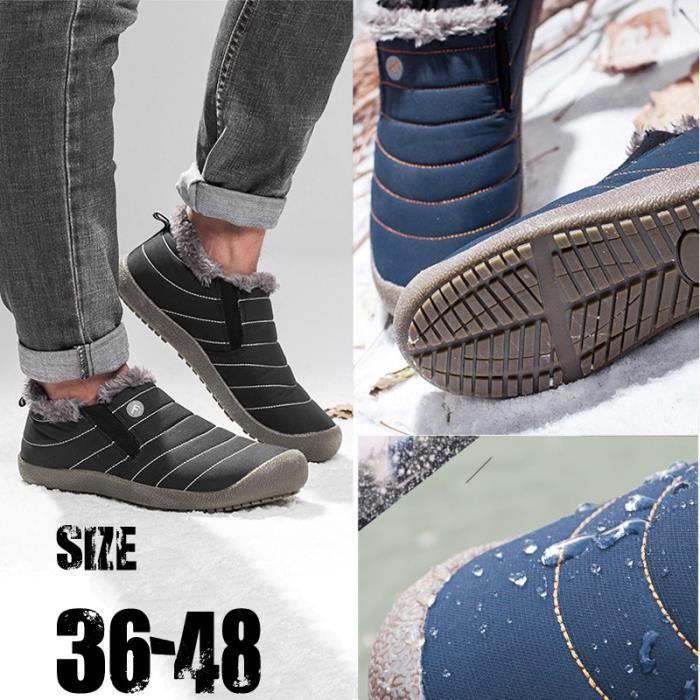 chaud Bottes Hommes Bottes air neige peluche travail Bottines neige en neige hiver de plein Chaussures de 48 Mode Bottes Femmes 36 qYdxaBa1