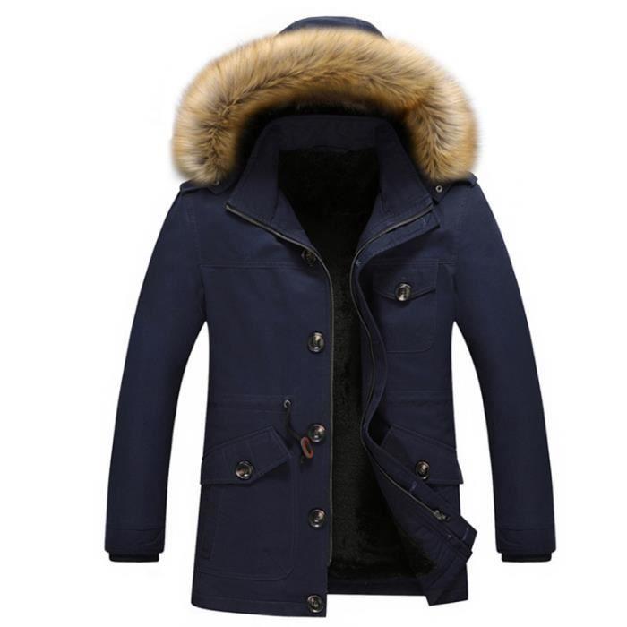 Coupe-Vent hommes Haut qualité Manteau homme en cachemire de doublure en  laine Chaud Hiver Veste à capuche Plus Taille M-5XL 0c21a88a4641