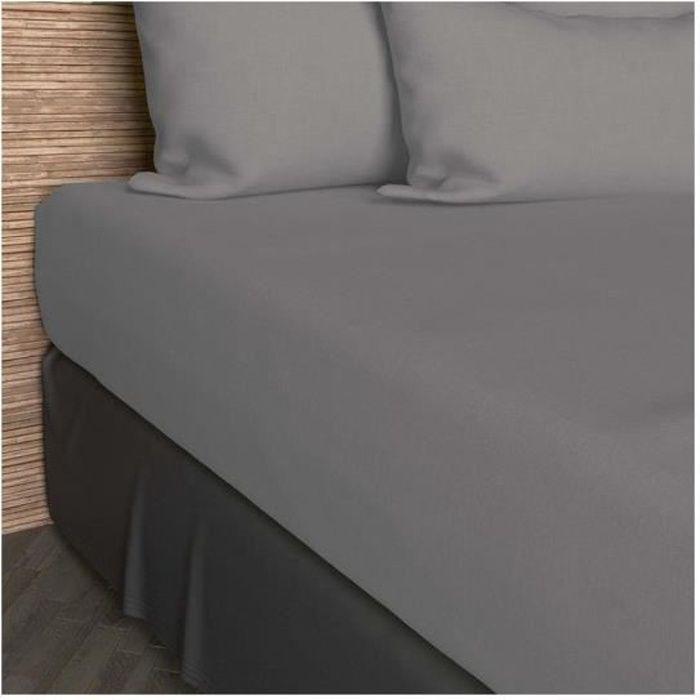 drap housse 90x200 cm Drap housse 90x200 cm en coton SO gris   Achat / Vente drap housse  drap housse 90x200 cm
