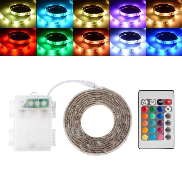 Xcsource Boîte 2 Bandes Rgb Batterie De Avec Smd 5050 Lumineuses Flexible D'humeur L'eau À Led Imperméable Changement Et M ypRBFKRv