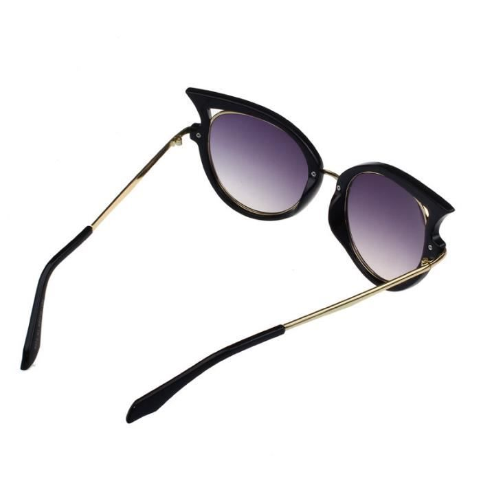 femme métal leg noir de en de lunettes 2017 lunettes Golden Retro chat vue cadre soleil SgAIcpxq