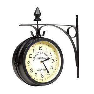 horloge de gare double face achat vente pas cher. Black Bedroom Furniture Sets. Home Design Ideas