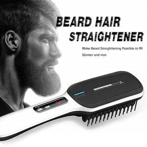 BROSSE SOUFFLANTE Brosse Lisseur Cheveux - Pinceau lisse de barbe io