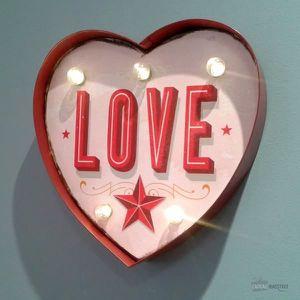 OBJETS LUMINEUX DÉCO  Coeur Love Lumineux -  Rouge Et Rose