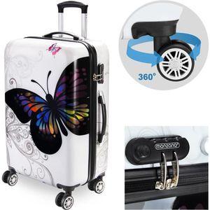 VALISE - BAGAGE Valise rigide Butterfly avec Cadenas à combinaison