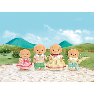 FIGURINE - PERSONNAGE SYLVANIAN FAMILIES 5259 - Famille Caniche