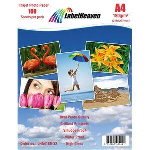 PAPIER PHOTO LabelHeaven - 300 Feuilles Papier Photo A4 Premium
