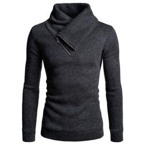 f424e64816ae7 GILET - CARDIGAN sweatshirt doublé polaire pour hommes pull à col r
