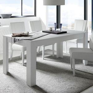 TABLE À MANGER SEULE Table de repas rectangulaire blanc mat - RIMINI n°