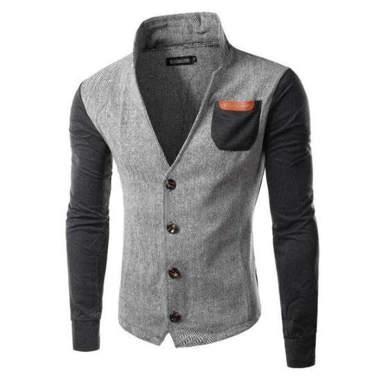 Qualité q Veste De Combinasion Haute Double Homme Couleurs m F S1qwzz