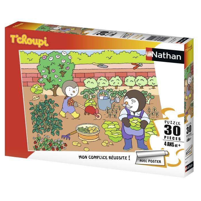 T'CHOUPI Puzzle Au Potager 30 pcs