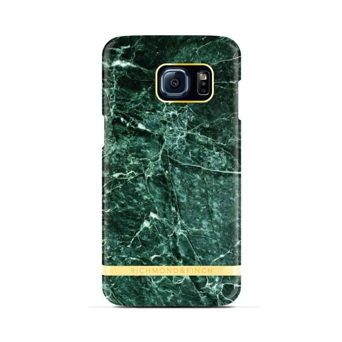 RICHMOND & FINCH Coque Marble Glossy pour Samsung Galaxy S7- Vert