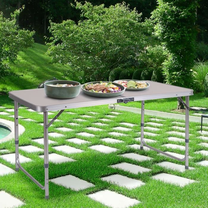 Table Camping Pliable 120 x 60cm Table Pique Nique Pliante Hauteur ...