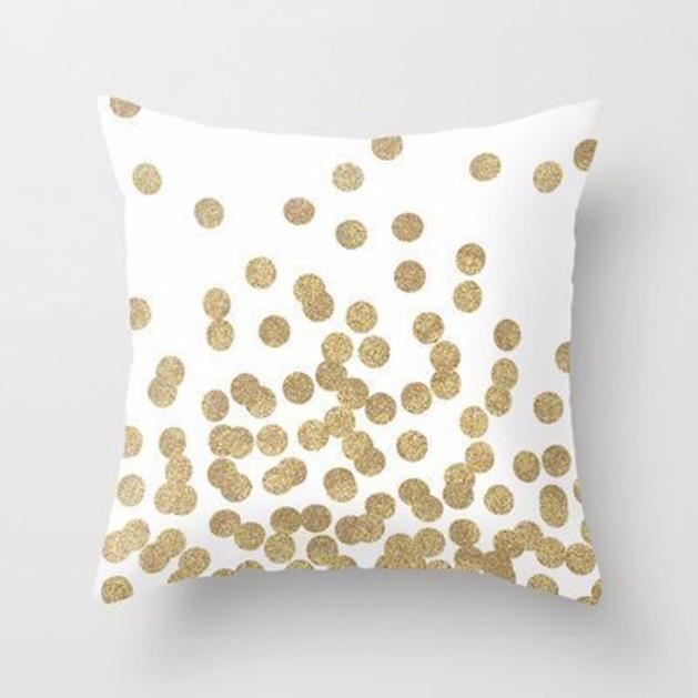 dore glitter dots carr tiroir oreiller coussin couverture. Black Bedroom Furniture Sets. Home Design Ideas