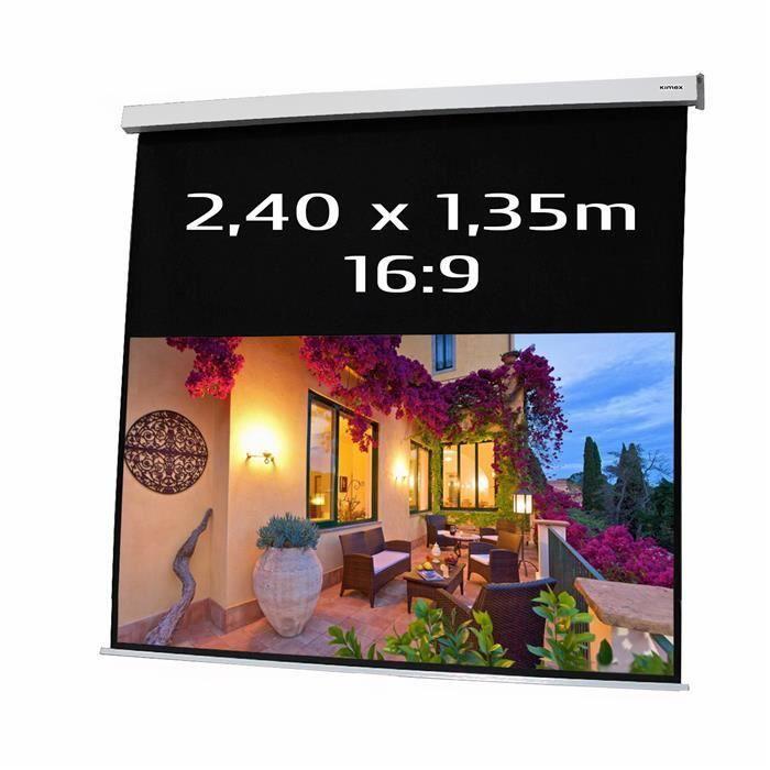 ecran projection motoris 2 40x1 35m format 16 9 ecran. Black Bedroom Furniture Sets. Home Design Ideas