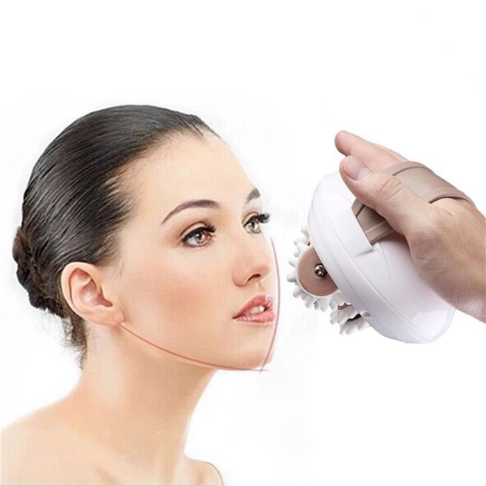 Appareil Massage Anti-cellulite 3D visage,Mini Roller Masseur Electrique Portable