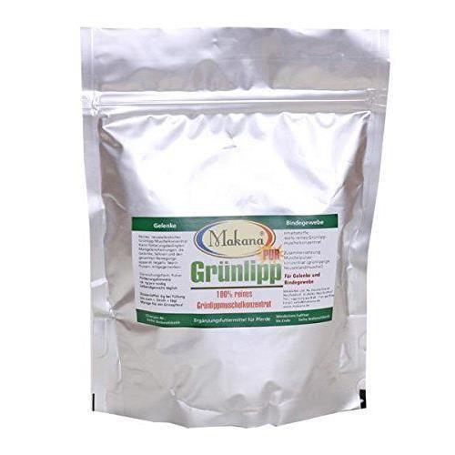 Makana - Grünlipp Pur - Complément alimentaire pour cheval - Concentré moule verte - 1 x 500 g