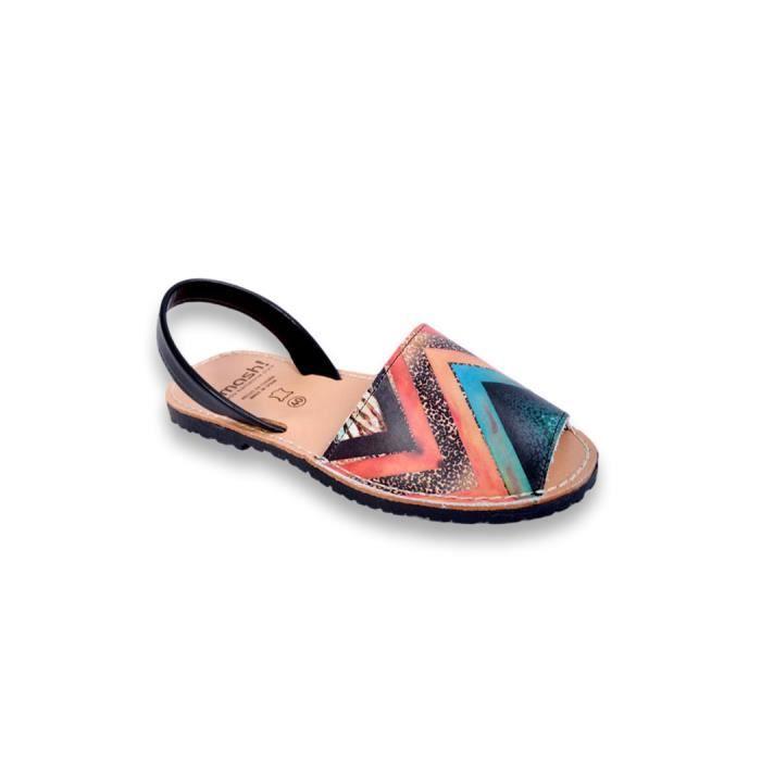 SMASH - sandale femme été - Sandale femme muticolore en cuir