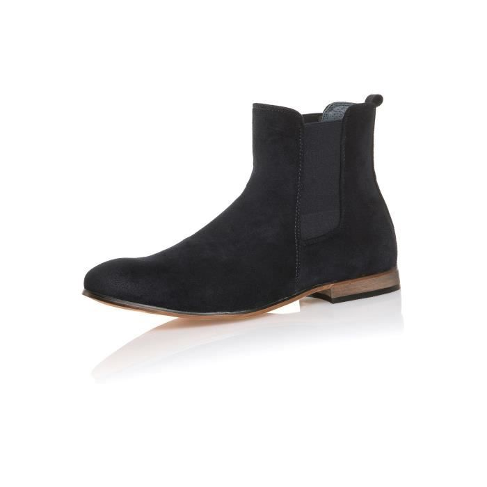 Boots homme chic navy à enfiler