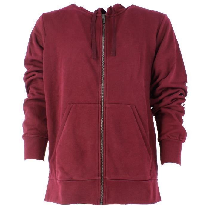 Lin Bordeaux Fz Adidas Ess Sweat Homme Shirt Rouge Ft vaTwqzUT