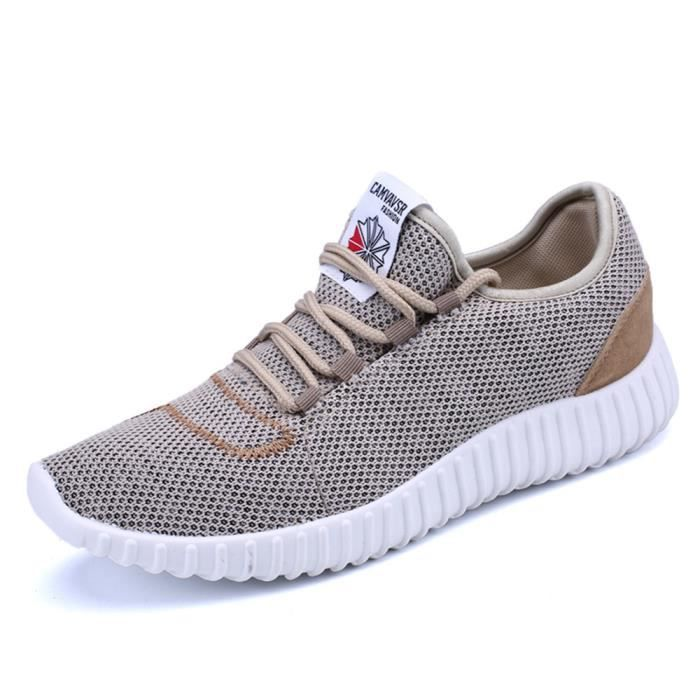 Homme Chaussures Marque De Luxe Confortable Respirant Antidérapant Sneaker 2017 Breathable Textile Sneakers Grande Taille 44