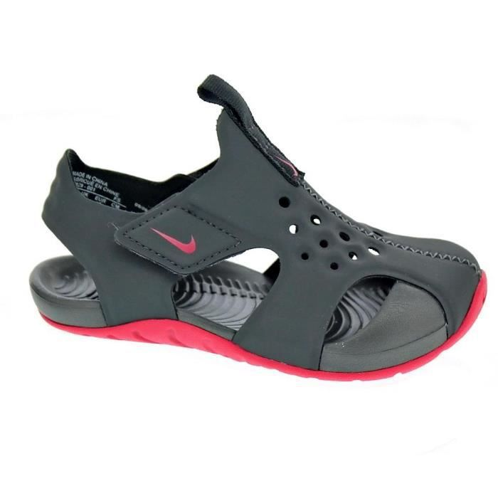 BASKET Tongs - Nike Sunray Protect 2  Fille  Gris 25
