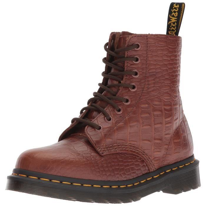 Brun Croc Dr Boot Fashion 37 Pascal Flt97 Taille Foncé Martens ZAwFqxHwt