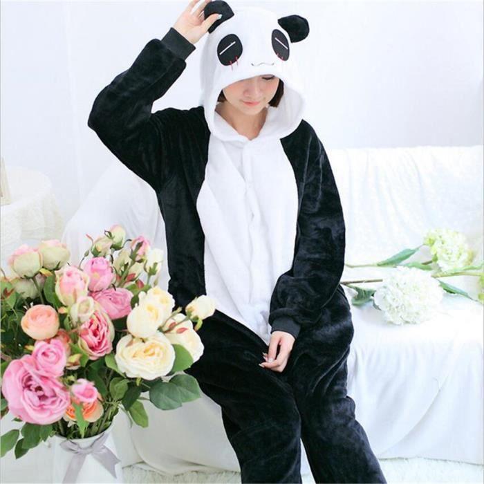 À Luxe Longue Mignonne Manche Capuche Flanelle Femme Animé Pyjamas Fête Chaud Vêtements De Dessin Animaux Nuit Panda 8BUn4q