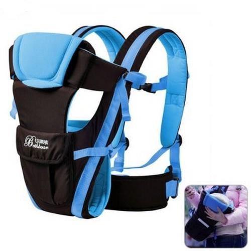 08b60f3ad159 Porte bébé bleu-noir - Ajustable - Jusqu à 30 mois et 18 Kg maximum ...