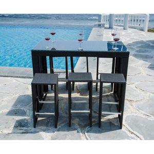 Table Haute Exterieure. Bar De Jardin Design Places With Table Haute ...