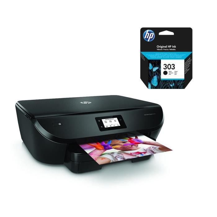 HP Imprimante Tout en un Envy Photo 6230 + Cartouche d'encre 303 authentique noire
