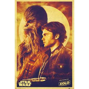 AFFICHE - POSTER Poster Star Wars - Solo: A Star Wars Story, Han Et