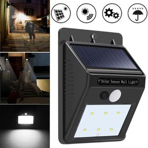 OBJETS LUMINEUX DÉCO  6 énergie solaire LED PIR détecteur de mouvement A