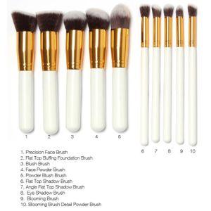 PINCEAUX DE MAQUILLAGE 10 pièces Kabuki Kit de pinceaux maquillage pincea