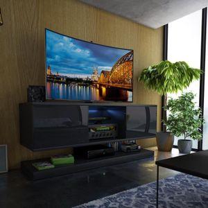 MEUBLE TV Meuble TV / Meuble salon - WIZZ - 140 cm - noir ma
