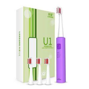 BROSSE A DENTS ÉLEC Couleur violet  Brosse à dents USB charge  électri
